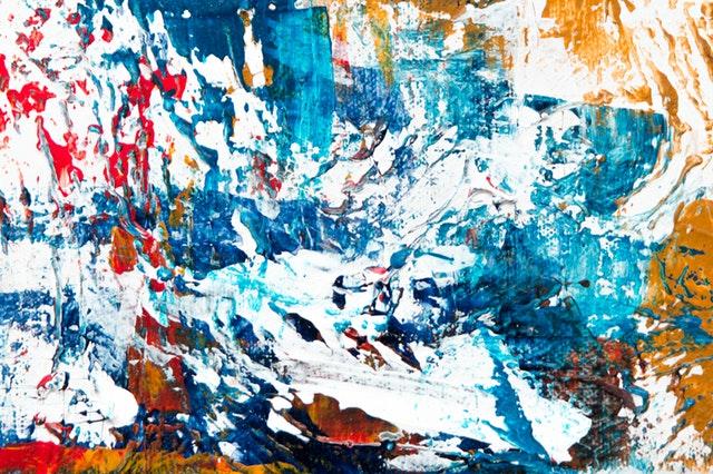Spilled Blue Paint